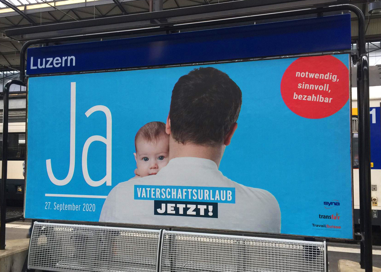 Vaterschaftsurlaub_jetzt_Plakat_Luzern